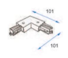 Square 1F 230V Vinkel Ud grå (alu)