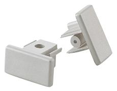 Square 1F 230V Endestykke hvid