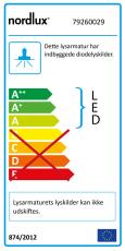 Pipe Lysliste LED 12W 3000K, 800 lumen, inklusiv 25W driver
