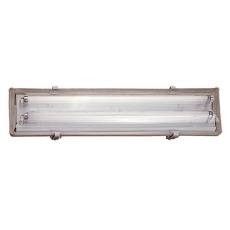 Polyesterarmatur Works LED 2x9W 1400 lumen, grå, L660 mm, IP