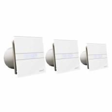Ventilator E-100 GSTH Hygro Sølv