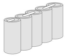 Batteripakke 5HT43SC 6V 1600 mAh, stakit