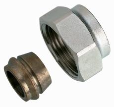 Klemringsfitt, cu og stål, Ø28 mm