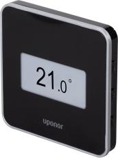 Uponor Smatrix Wave digital STYLE termostat med RH sort T-16