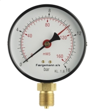 "1/2"" x 100 mm Manometer 6 bar"