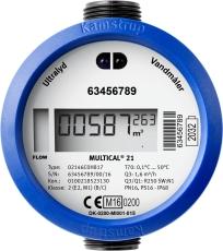 Vandmåler MULTICAL® 21 med Wireless M-Bus og batteri til kol