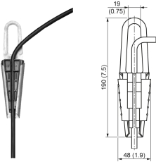 Ophæng til sitrans LH100 tryk niveautransmitter