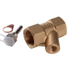 """T-stk incl.fl l 60mm,rp 3/4"""" muffe"""