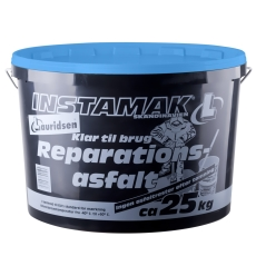 Instamak reparationsasfalt 25 kg, 0-11 mm, blå