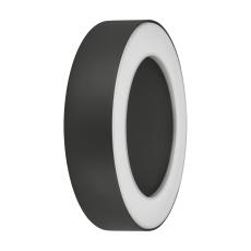 Væg-/loftarmatur Facade Surface Round 13W 830, antracit, IP5