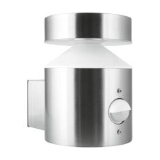 Vægarmatur Facade Pole 6W 830, 360 lumen, med sensor stål, I