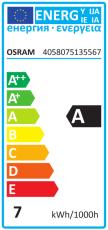 Ledinestra 7W 827, 470 lumen, S14s, 2-sokler, 500 mm, dæmp (