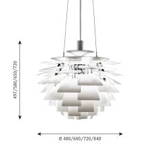 PH Artichoke Pendel 600 LED 2700K WB, hvid