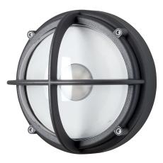 Skotlampe LED 8,5W 3000K uafskærmet klar grafitgrå