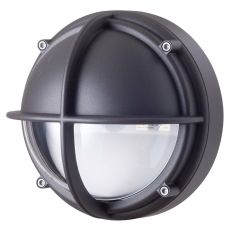 Skotlampe LED 8,5W 3000K halvafskærmet klar grafitgrå
