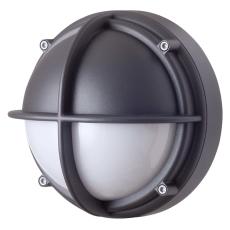 Skotlampe LED 8,5W 3000K halvafskærmet opal grafitgrå
