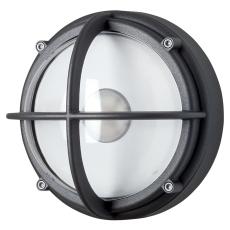 Skotlampe LED 8,5W 4000K uafskærmet klar grafitgrå