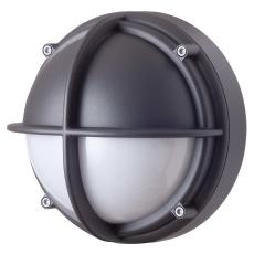 Skotlampe LED 8,5W 4000K halvafskærmet opal grafitgrå