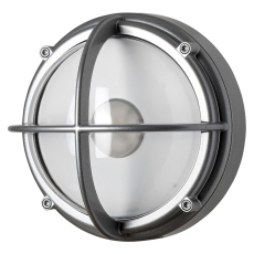 Skotlampe LED 8,5W 3000K uafskærmet klar aluminium