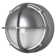 Skotlampe LED 8,5W 3000K halvafskærmet klar aluminium