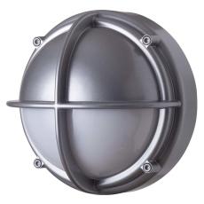 Skotlampe LED 8,5W 3000K halvafskærmet opal aluminium