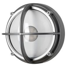 Skotlampe LED 8,5W 4000K uafskærmet klar aluminium