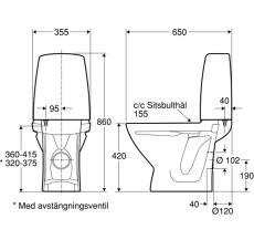 Ifö Sign toilet hvid 2/4 liter uni-lås limning