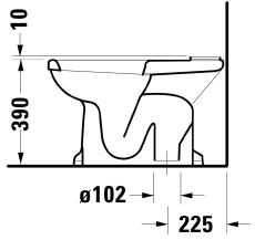 1930 serien toilet med s-lås