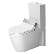 Toilet close-coupled 72 cm starck 2 hvid, vario outlet, wash