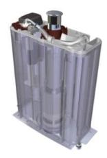 Laufen Plast cisterne for Kompas inkl trykknap i krom