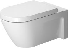 Toilet wall mounted 62 cm starck 2 hvid, washdown model
