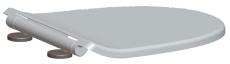Aqualux Skagen sæde m/ soft
