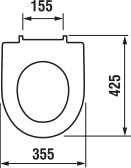 Hvidt sæde til hængeskål med softclose