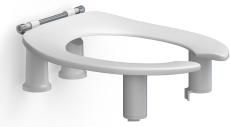 Pressalit Care toiletsæde Dania 10 cm med åben front u/låg,