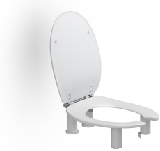 Pressalit Care toiletsæde Dania 10 cm med åben front og låg