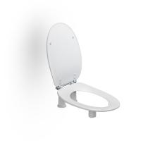 Pressalit Care toiletsæde Dania 10/5 cm med låg, Hvid
