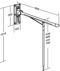 Pressalit Value Toiletstøtte med ben, højderegulerbar. hvid