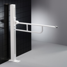 Pressalit Value Toiletstøtte på gulvsøjle, højderegulerbar.