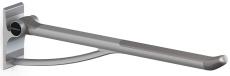 Pressalit Plus Toiletstøtte, 850 mm, fastmonteret, antracitg