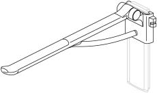 Pressalit Plus Toiletstøtte, 850 mm, højderegulérbar, hvid