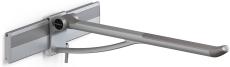Pressalit Plus Toiletstøtte, 850 mm, sideværts regulérbar, h