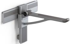Pressalit Plus Toiletstøtte, 600 mm, højde/side, antracitgrå