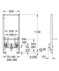 Rapid SL bidet 1,13 meter
