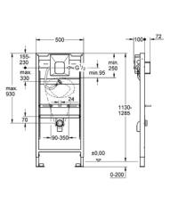 Rapid SL, urinal, 1,3 meter Tectron 230 v/fv