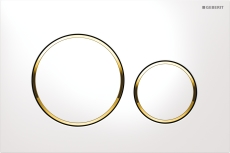 Geberit Sigma20 betjeningsplade hvid/guld/hvid