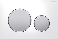 Geberit Sigma20 betjeningsplade hvid/matkrom/matkrom