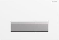 Sigma40 betjeningsplade hvid/børstet alu, Duofresh