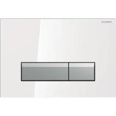 Sigma40 betjeningsplade hvidt glas/ alu, Duofresh