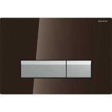 Sigma40 betjeningsplade sort glas/ alu, Duofresh
