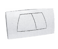 Geberit betjeningsplade 3/6 liter hvid Twinline